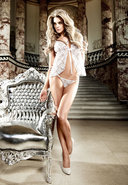 White Lace Babydoll And Gstring Set (disc)