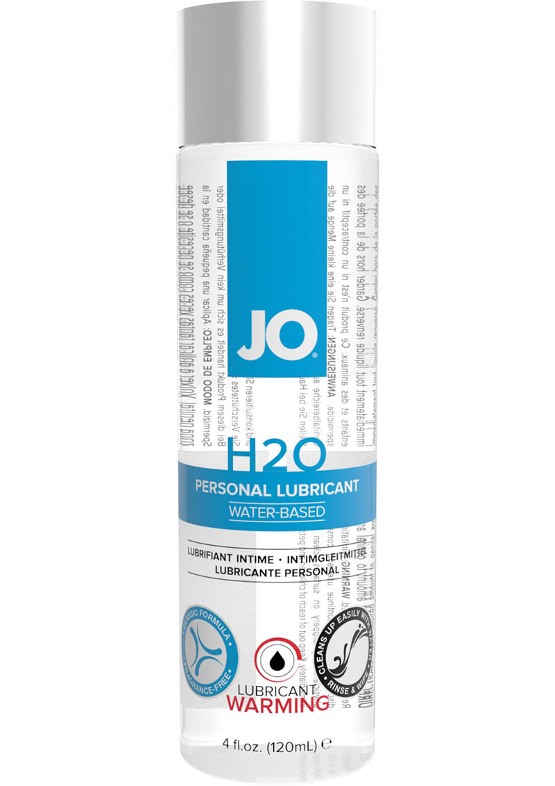 Jo H2o Water Based Lubricant Warming 4oz